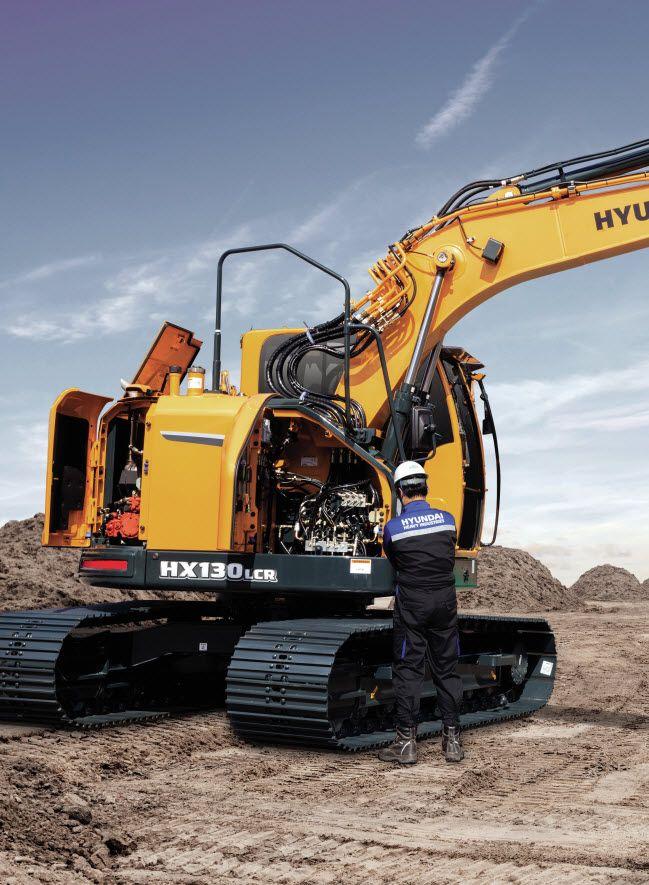 Excavadora de cadenas Hyundai HX130 LCR